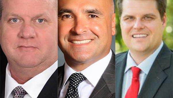 From left to right: John Mills, Chris Dosev and Matt Gaetz.