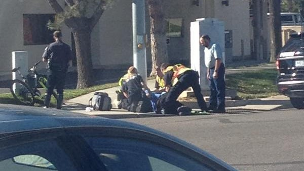 A car vs. bike crash sent a cyclist the hospital Thursday afternoon.