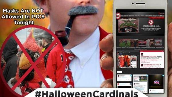The University of Louisville has banned masks from Papa John's Cardinal Stadium for Thursday's FSU game.
