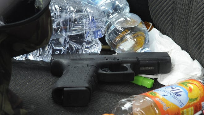 Lafayette police report an increase in sidearms stolen from cars. Nine handguns have been stolen this year.