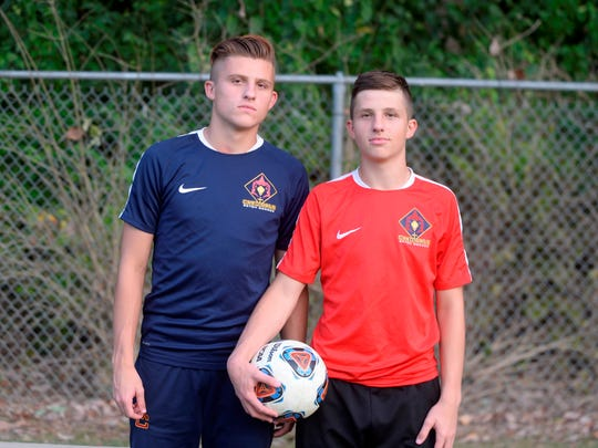 Brothers Sam Brenneke, left, and Will Brenneke, lead the Seton Catholic boys soccer team heading into the sectional tournament.