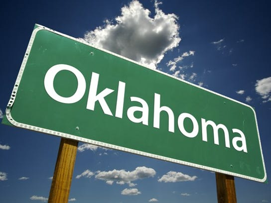 Oklahoma road sign