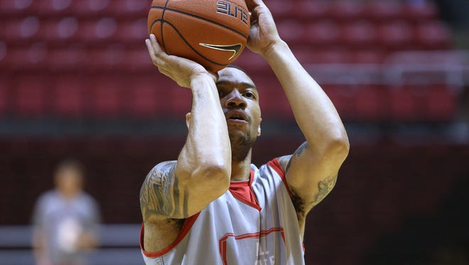 Ball State's Jeremiah Davis, pictured at practice Tuesday, will miss 8-10 weeks after surgery.