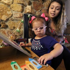 This Milwaukee 3-year-old has impaired vision. But she's helping her mom see that her future is bright.