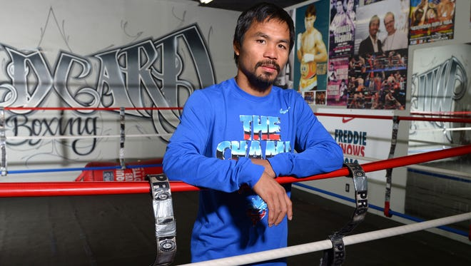 Manny Pacquiao poses for a portrait.