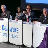 """Attendees listen to the panel during the Imagine Delaware forum """"Combating Diabetes in Delaware"""" Wednesday at Cab Calloway School of the Arts."""