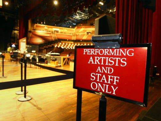 The Grand Ole Opry House was under several feet of water last May after massive flooding hit Nashville, but now five months later the backstage area has a new look.