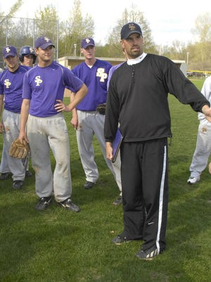 Pat Bloom (right), coach of the University of Wisconsin-Stevens Point baseball team, is leaving the program for  the same position at Washington University in St. Louis.