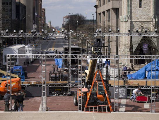 The under-construction American Ninja Warrior, an obstacle