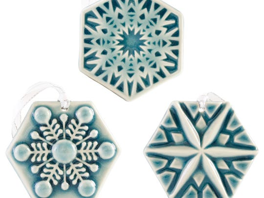 Pewabic snowflakes for 2017