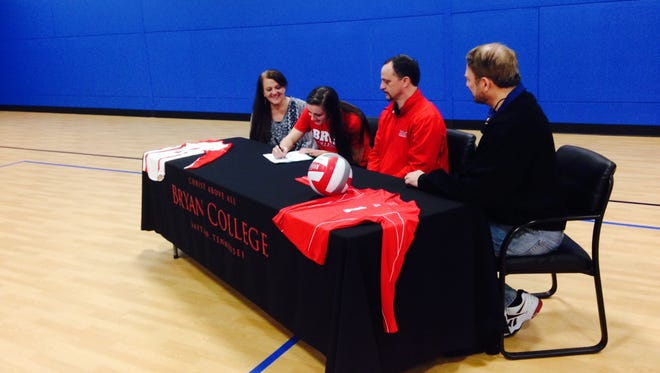 Asheville Trailablazers middle hitter Hope Burnett has signed to play college volleyball for Bryan (Tenn.).