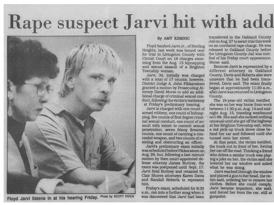 1993 article by Amy Kemnic about kidnapper and rapist
