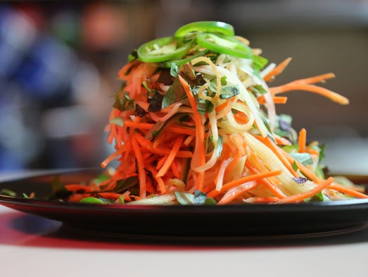 The green mango and papaya salad from Flowers of Vietnam