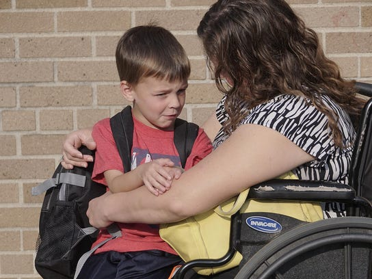 It's the first day of kindergarten for Grayson Michalik.
