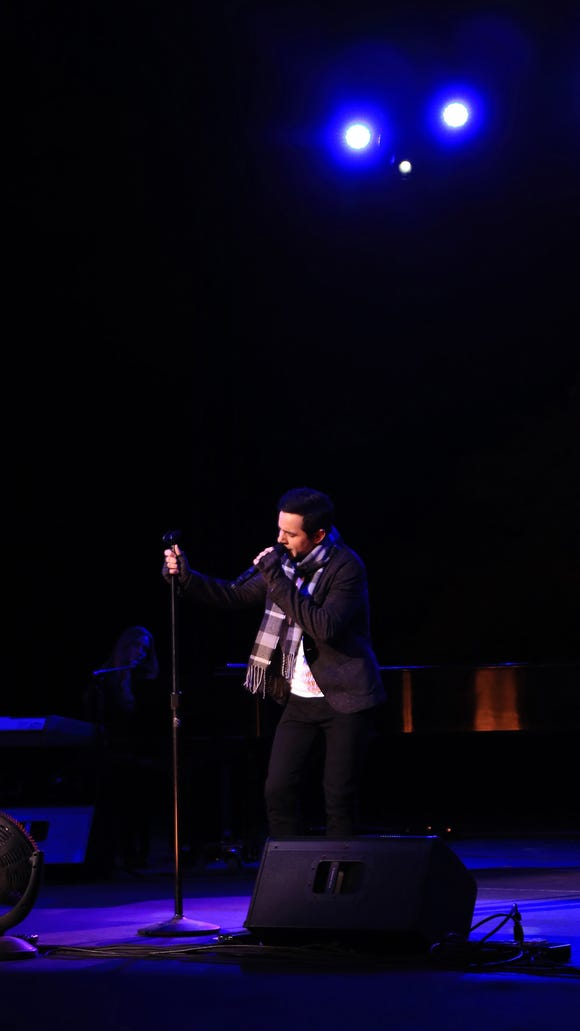 David Archuleta performs a variety of his hits and cover songs during his sold-out concert Friday at Tuacahn Amphitheatre in Ivins City.