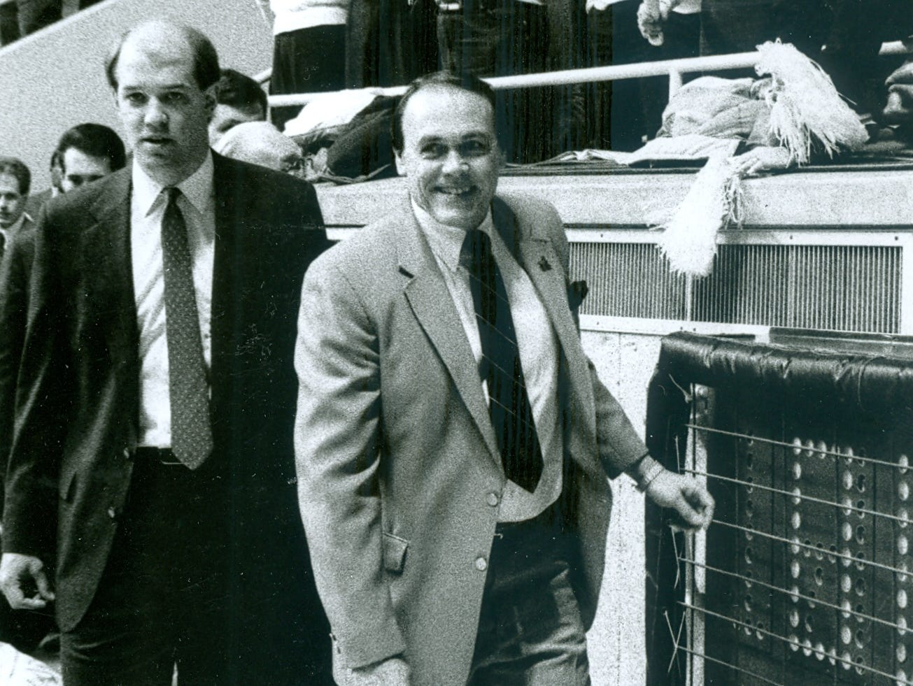 Kevin Stallings, left, was an assistant on Gene Keady's staff at Purdue from 1983-88.
