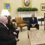 Before delivering the State of the Union Address to Congress, President Obama meets in the Oval Office on Tuesday with people who wrote him personal letters throughout the year, and who will attend the speech as his guests.