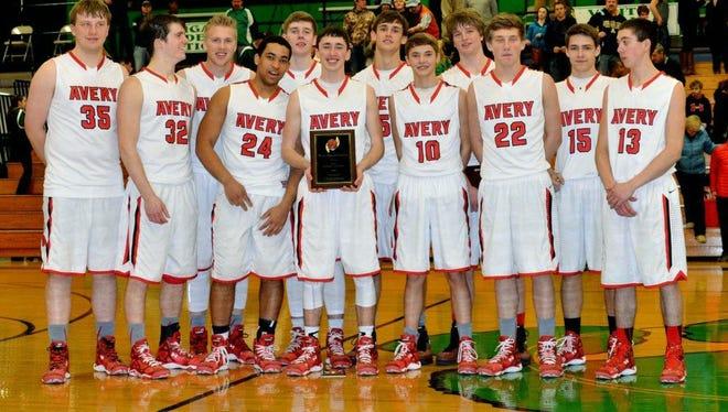 The Avery County boys basketball team.