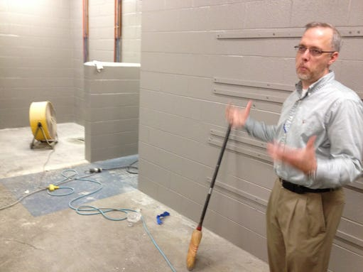 Stayton pool site makeover underway and on target for Stayton swimming pool schedule