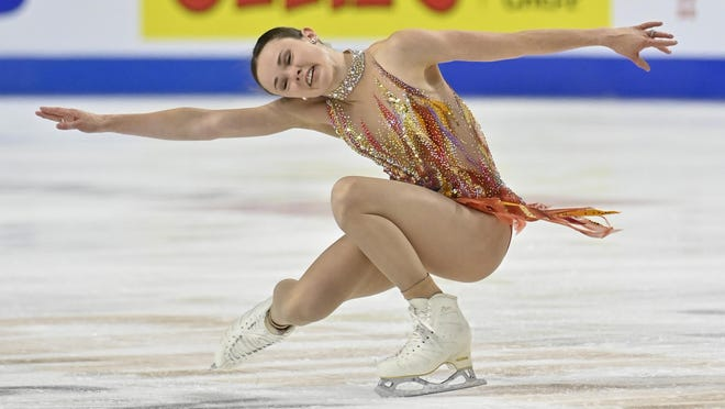 Mariah Bell of the United States was judged champion of the International Skating Union Grand Prix of Figure Skating Series, better known as Skate America, on Oct. 23 in Las Vegas. The U.S. Nationals on Jan. 11-21 have been moved to Las Vegas because of bubble environment created for Skate America.