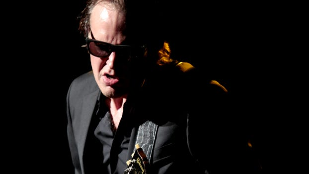 Blues guitarist Joe Bonamassa performs at the Guitar Center's Battle of the Blues at Club Nokia on August 18, 2012 in Los Angeles.