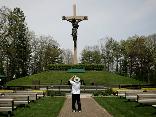 The Cross In The Woods shrine in Indian River.