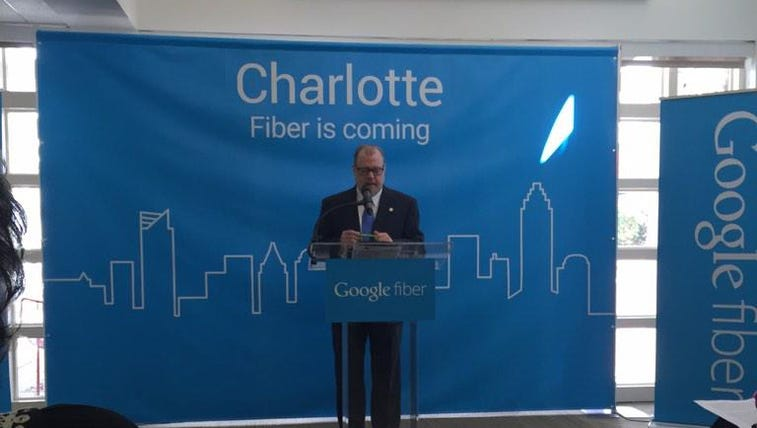 Charlotte City Manager Ron Carlee announces Google