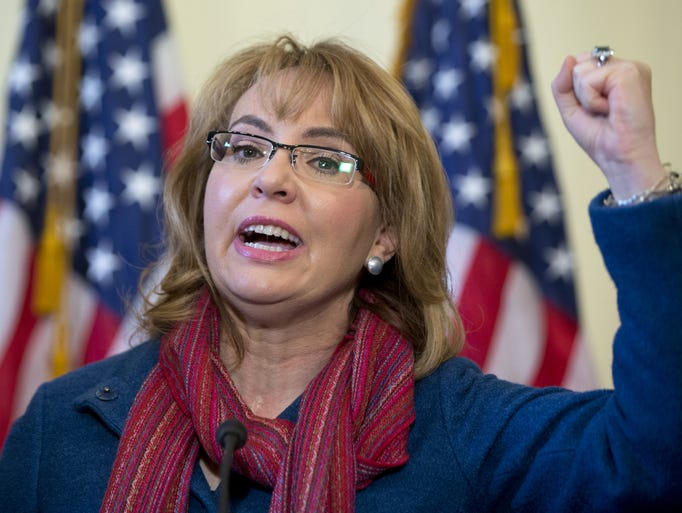 Former Rep. Gabby Giffords  speaks on Capitol Hill