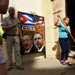 Havana workers and residents prepare for President Obama's visit on March 19, 2016, one day in advance of his arrival. Obama will be the first U.S. President to visit Cuba in nearly 90 years.