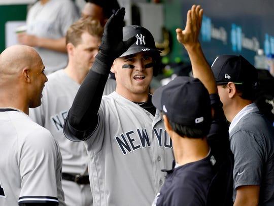 New York Yankees first baseman Tyler Austin (26) is
