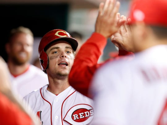 The Reds claimed second baseman Scooter Gennett off waivers from the Brewers last March.