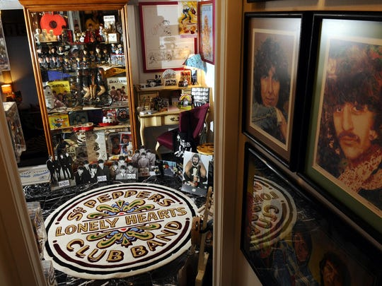 This is a tiny portion of the huge Beatle memorabilia collection Victoria Spector-Walker and Jim Walker have amassed. You can tour their collection by appointment.