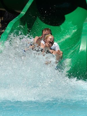 Adventure Cove opened Saturday and will be a cooling-off destination this weekend, when temperatures get to 100 degrees or more.
