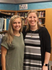 Maya Reed, left, with Mentor Angela Keefer.