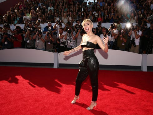 Singer miley cyrus attends the 2014 mtv video music awards at the