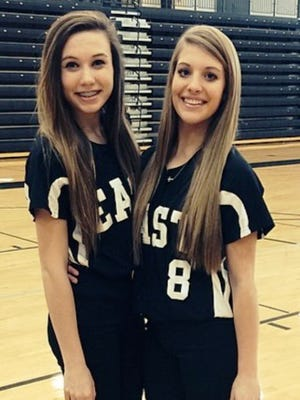 South Lyon East's captains this year are Carly Petri (left) and Bailee Taylor.