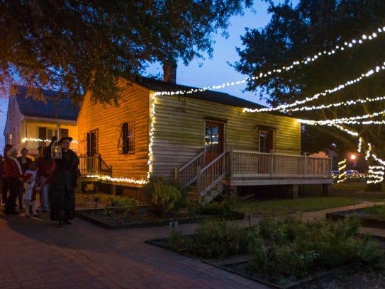 Enjoy an evening in historic Pensacola, strolling under