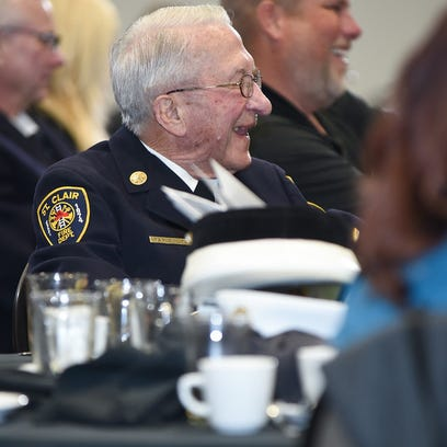 Ray Skuta laughs during the 2016 St. Clair County Firefighter