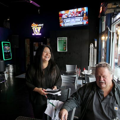 Amy's On The Bay in Port Orchard owner Amy Creed laughs