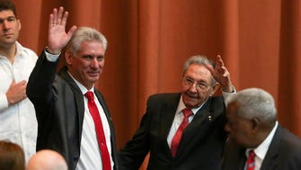 Cuba's new president, Miguel Diaz-Canel, left, and former president Raul Castro in Havana on April 19, 2018.