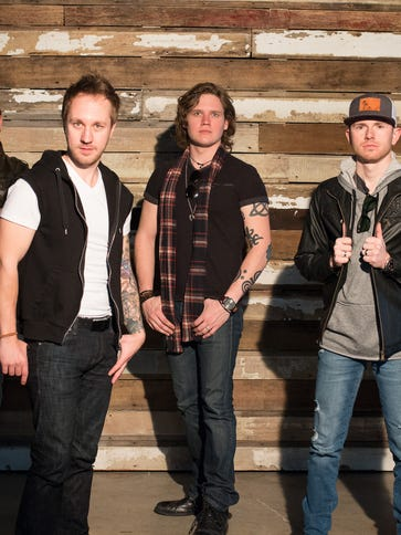 Members of Backroad Anthem are: (from left) Josh Bryant,