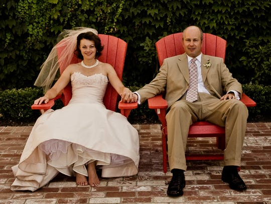 Robin and Ed Mercer of Reno were married in Yountville