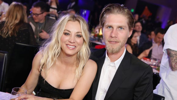 Kaley Cuoco and Karl Cook, pictured here in March,