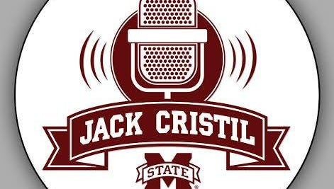 Mississippi State will wear this sticker on their football helmets Saturday against South Alabama to honor Jack Cristil.