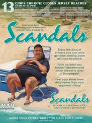 "Chris Christie's ""Scandals"" is featured in Mad Magazine's"