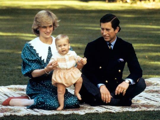 Princess Diana, Prince William, Prince Charles 1983
