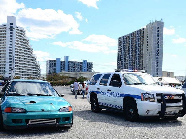 Ocean City Police patrol the parking lot at ACME on
