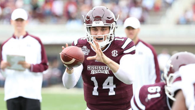 Mississippi State quarterback Nick Tiano is one of four players vying for an opportunity to replace Dak Prescott.