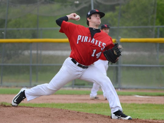 Pewaukee pitcher Patrick Tomfohrde is the player of hte year in the Woodland Conference West Division.