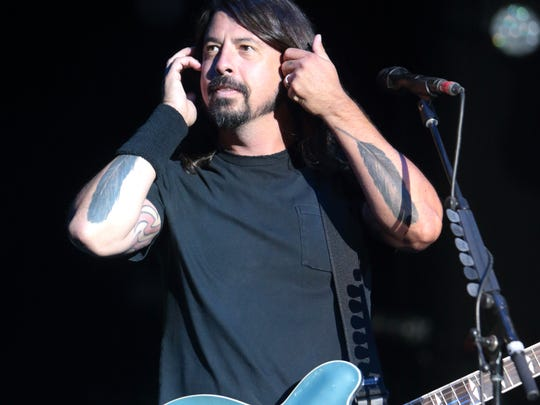 Dave Grohl of the Foo Fighters performs on Day 2 of the 2014 Firefly Music Festival at The Woodlands on Friday, June 20, 2014, in Dover.